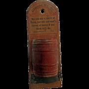 RARE Halfway, Virginia Fauquier County Advertising Barrel from Claude Wrenns General Store
