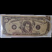 Rare George Wallace Segregated States of America 3 Dollar Bill