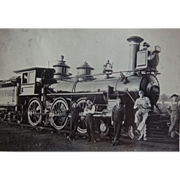 Wabash Railroad Locomotive 558 with Crew