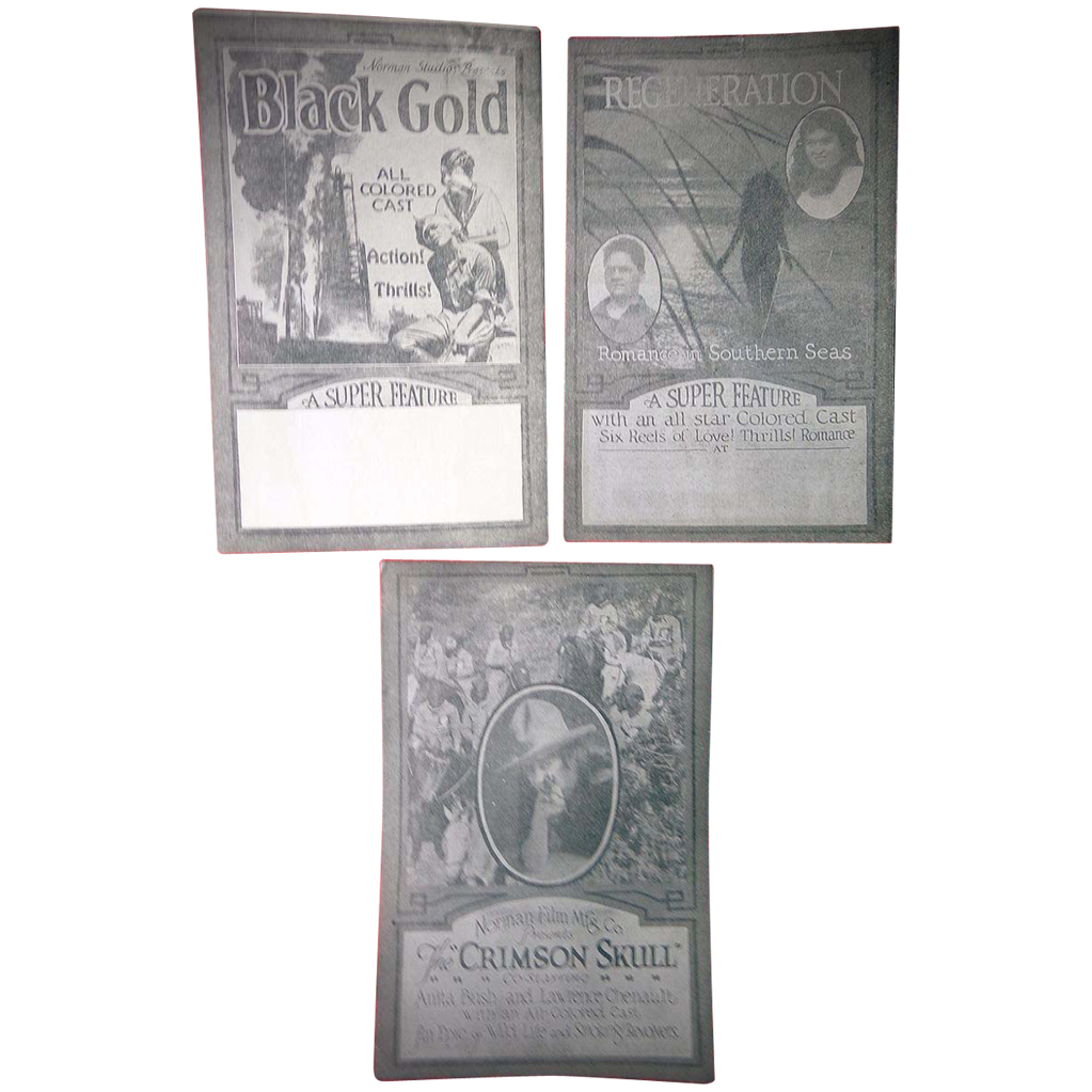 Negro Silent Film Playbill's from Jacksonville,Florida c.1920's