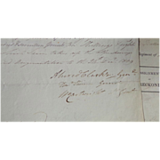 Autograph Of British General Alured Carke Ist Regiment of Foot 1810