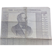 Newspaper Cincinnati Commercial President Garfield Our Murdered President 1881