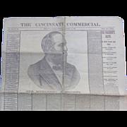 Newspaper Cincinnati Commercial President Garfield Our Murdered President 1881