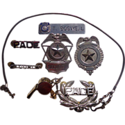 Security & Law Enforcement Obsolete Badges,Whistles & Cool Stuff