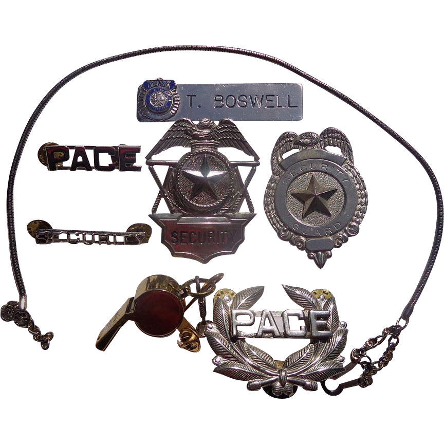 Security & Law Enforcement Obsolete Badges,Whistles & Cool Stuff