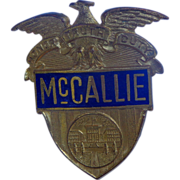 McCallie Military School Honor Guard Obsolete Badge Chattanooga, Tennessee