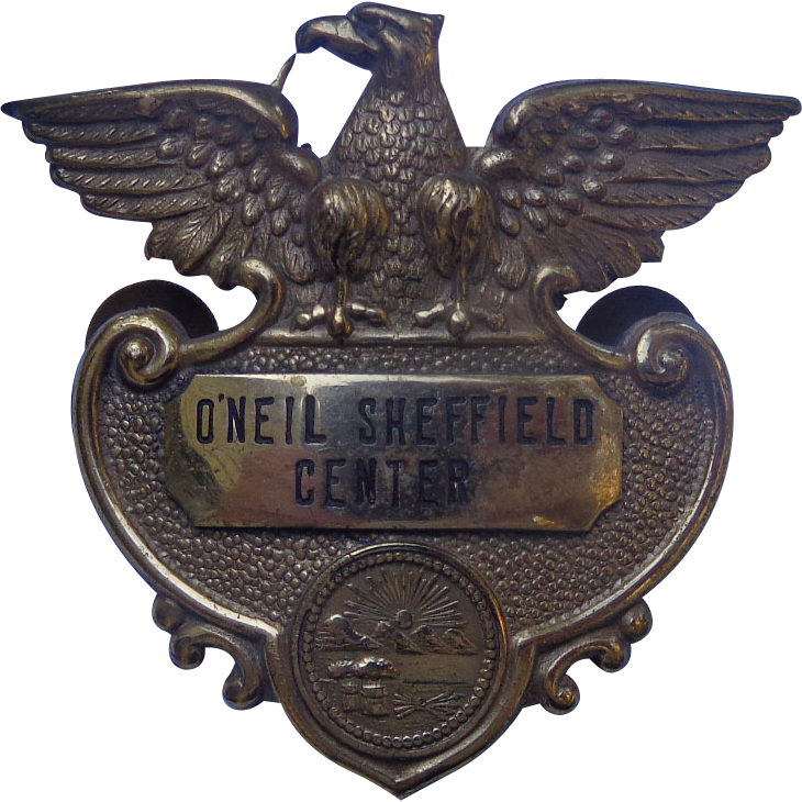 O'Neil Sheffield Shopping Center Obsolete Badge Lorian County,Ohio Akron Ohio