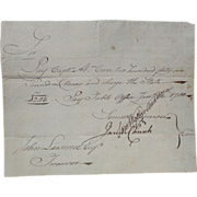 Connecticut Revolutionary War Payment Order 1780 Captain Abraham Chase
