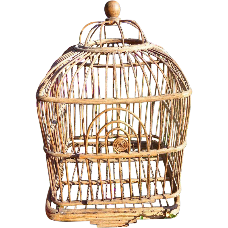 Victorian Wicker Bird Cage