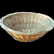 Depression Era Hand-Woven Wicker Laundry Baskets Set of 3