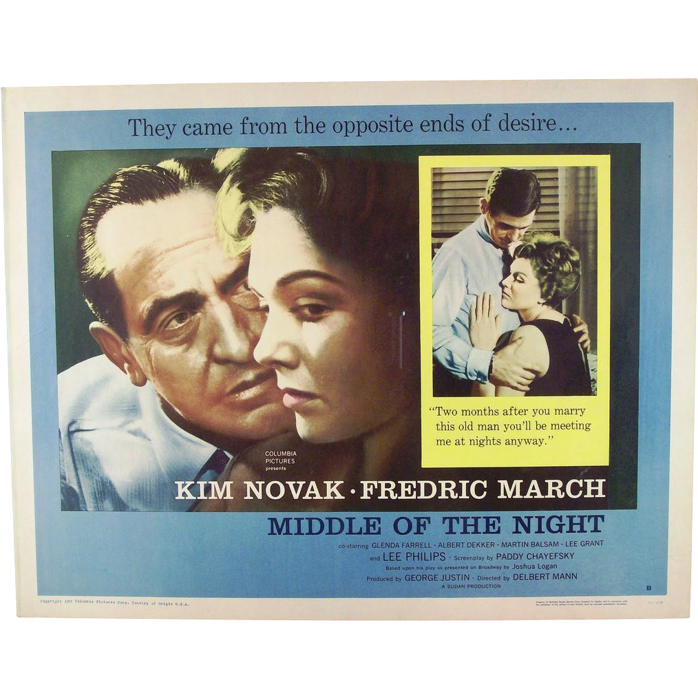 "16 mm Four Reel Film of The 1959  Movie ""In Middle of the Night"" with Kim Novak"