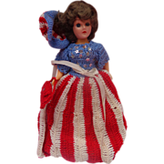 1941 World War 2 Miss Liberty Doll with Hand-Made Stars & Stripes Dress