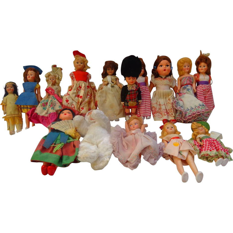 Collection of vintage international culture dolls for International collection