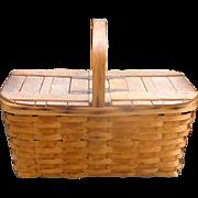 Beautiful Antique Picnic Basket Haywood-Wakefield