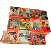 LIFE Magazine Collection 1937-1972 Ted Williams Mantle MacArthur Patton JFK Movie Stars