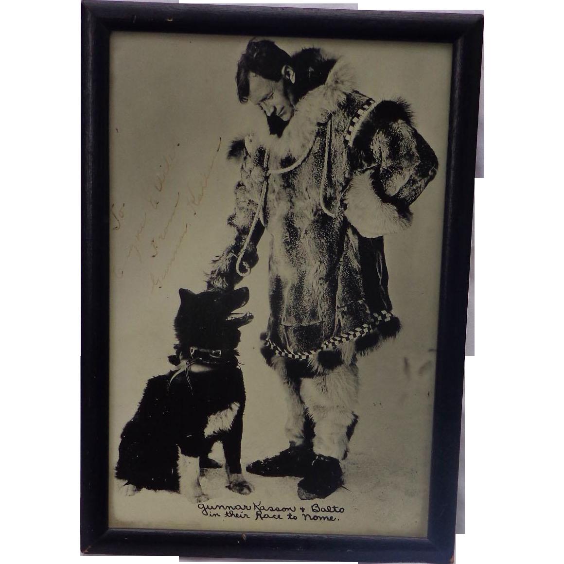 Autographed Photo of Artic and musher legend Gunnar Kaasen