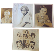 Actor Eddie Laughton 1930's Autograph Archive Three Stooges Gypsy Rose Lee