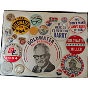 1964 Barry Goldwater Campaign Button Collection~Better Examples