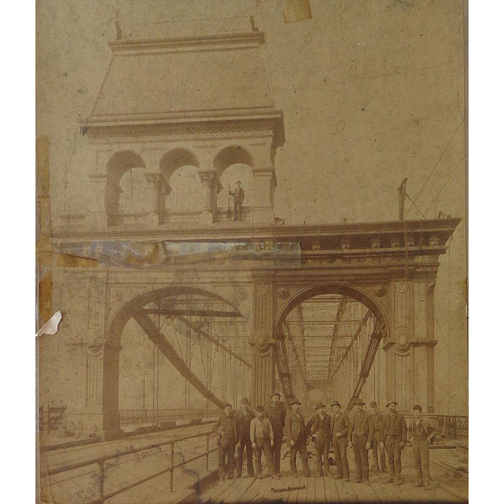 Albumen Photo of Smithfield Bridge,Pittsburgh 1889-90