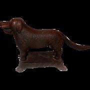 Authentic C.1880 Saint Bernard or Lab Cast Iron Nutcracker
