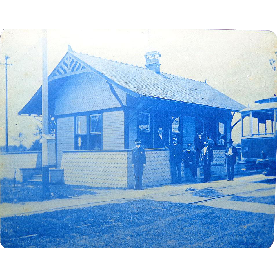 Rock Island,Il 1894 Photo Album Chicago Worlds Fair Paddle boats Train Stations Cyanotypes