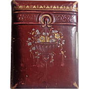 Decatur Illinois Victorian Photo Album in Unique Red Leather Album