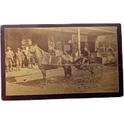 Boudoir Sized Cabinet Photo of Texas Wells Fargo General Store  1880's