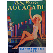 Art Deco 1939 Billy Rose's Aquacade Worlds Fair Program