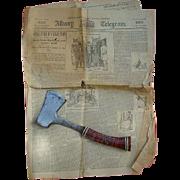 Original Lizzie Borden Murder Newspaper Albany,N.Y. Telegram Aug.20th 1892