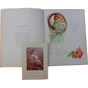 Josephine Steinheimer Francis Brundage Baby Book Aiken,South Carolina with locks of hair