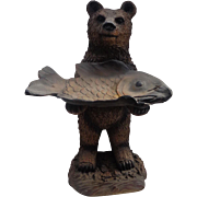 Really Cool Montana Lodge GRIZZLY Bear Business Card Advertising Display