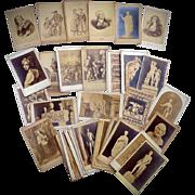 Collection of 38  Carte de Visite cdv's of European Works of Art & Treasures