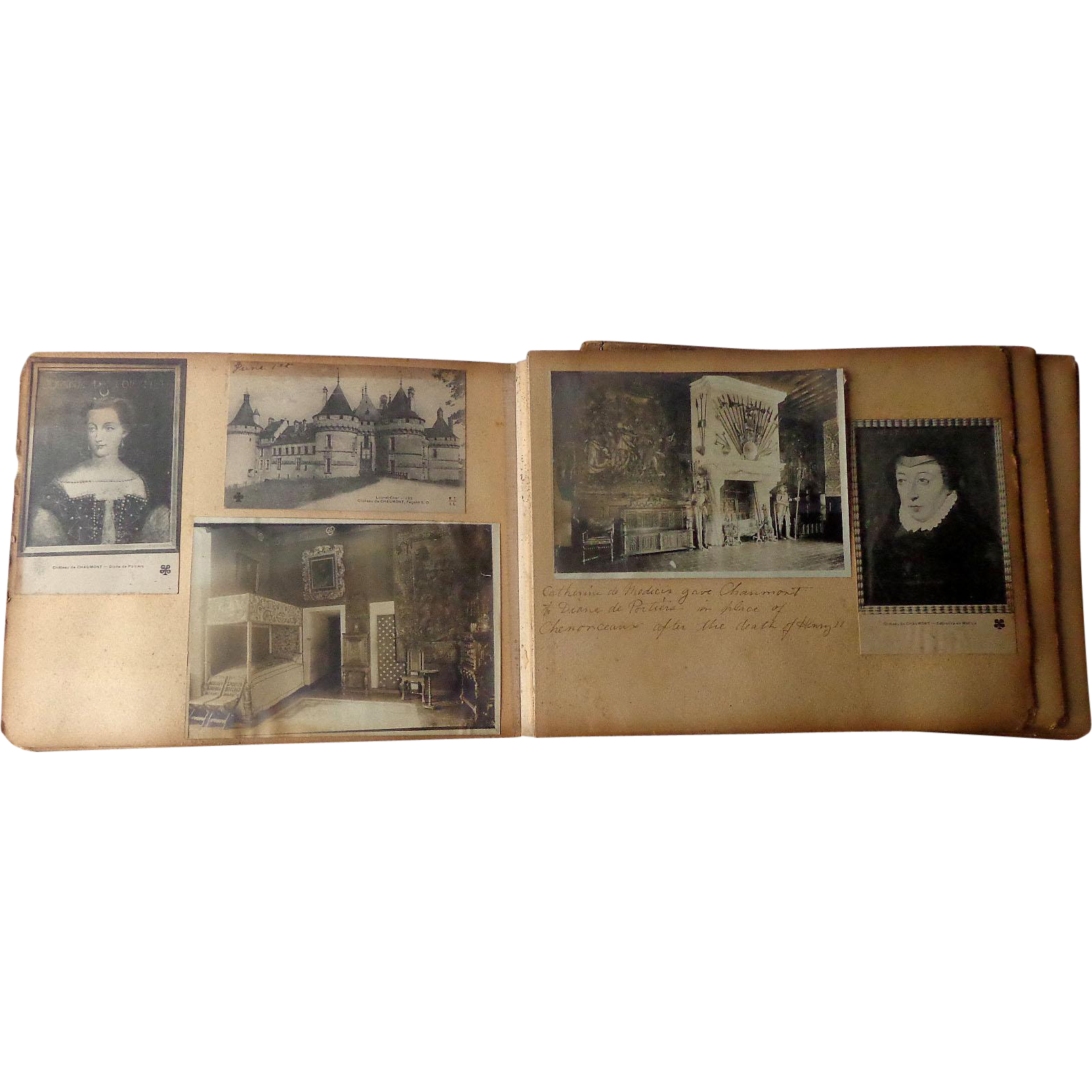 19th century French Royal Family Scrapbook with Albumen Photos & Postcards