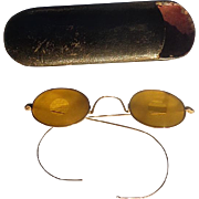 Civil War Ladies Sharp Shooter Eyeglasses w/Case