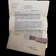 Roberta Lathrop Monk Rockford,Ill Letter: Bootleggers, Herbert Hoover. Bull Moose,Hissing Geese & Rome 1928