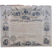Sargent John F.Goff New Jersey 25th Regiment Declaration of Service New Jersey Governor Marcus Ward