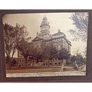 Courthouse Independence, Kansas Montgomery County 1905 Albumen Photograph