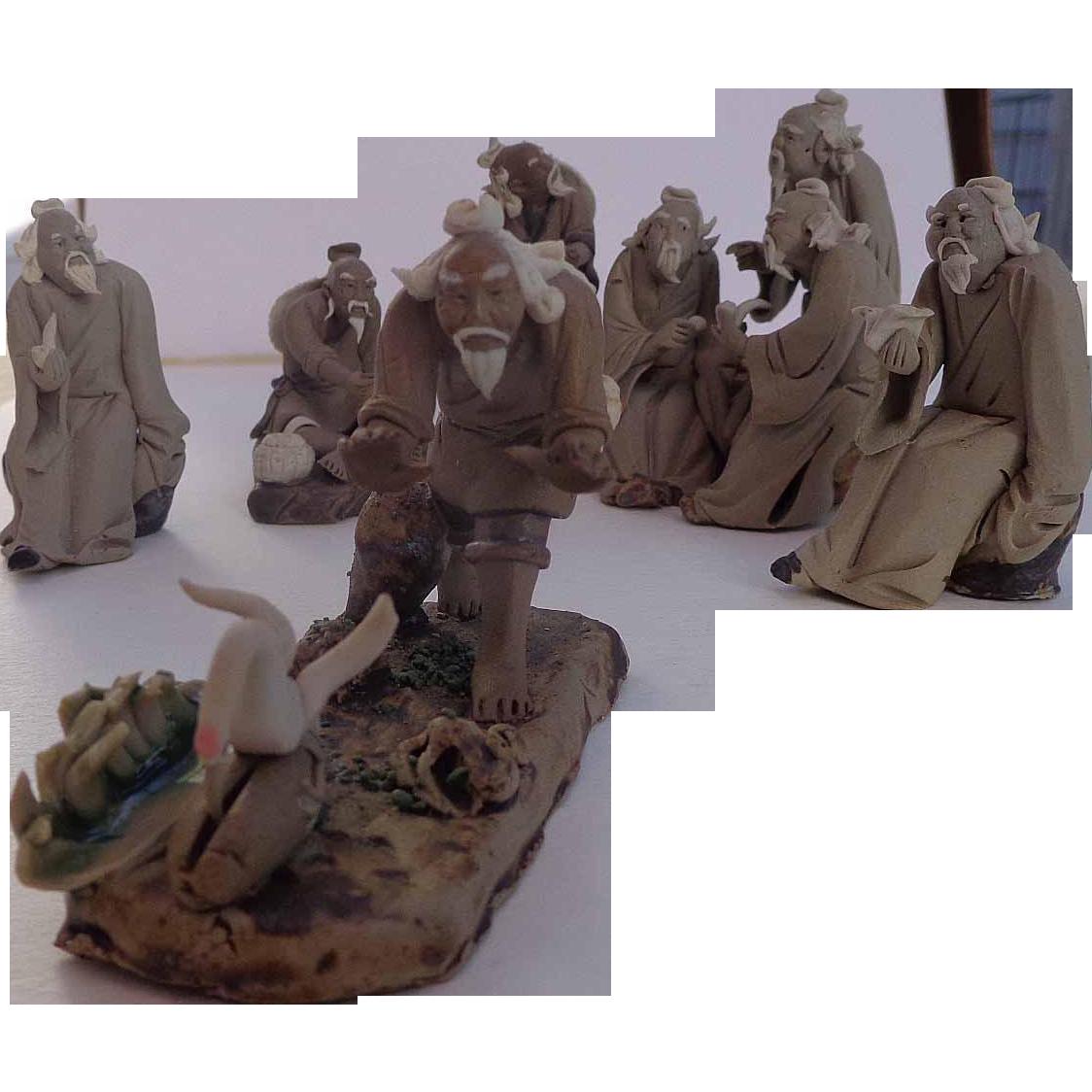 Chinese Mud Men from 1960's World Traveler