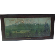 1890's Southern Pacific Railroad Tucson,Az Depot Framed Advertising Display for Mt. Shasta,Ca