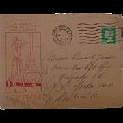 1931 Paris,France New Paris Styles Postal Cover Cancelled Washington D.C. France War Department