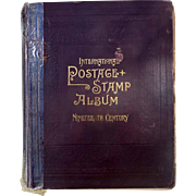 19th Century International Postage Stamp Album With Many Better Stamps