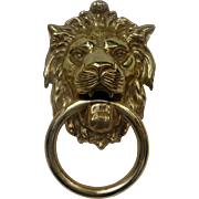 Large Brass Lion Door Knocker... The Ultimate King of the Jungle Door Knocker with History