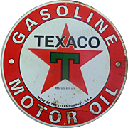 1957 Texaco Metal Gasoline Advertising Sign