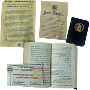 Jewish U.S. Armed Forces Ephemera Prayer Book Calendar etc...