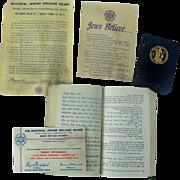 Jewish U.S. Armed Forces Ephemera Prayer Book Calendar etc...