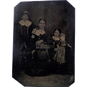 Tintype of Girl with Creepy Doll Great Gandmother of Chuckie