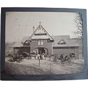 Zumstein's Horse Stable Avondale Cincinnati,Ohio or Avondale,Pa. late 19th c. Photograph