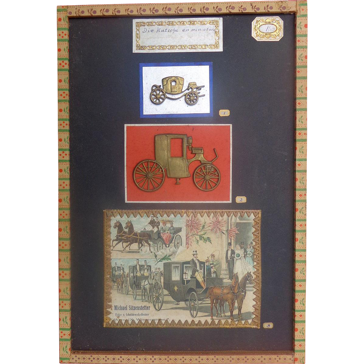 1880's General Store Advertisement Display for Carriages Coaches