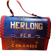 Folk Art Decorated Political Campaign Lunchbox William Herlong for Congress 1976