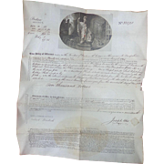 Exceeding Rare 1812 Insurance Document for Dartmouth College $181,818.18